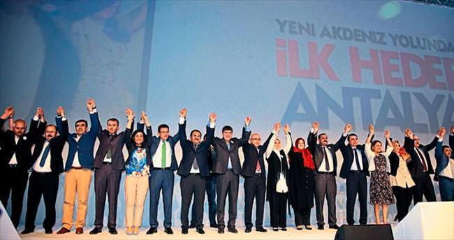 İlk hedef Antalya