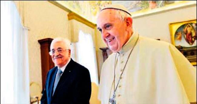 Papa'dan Abbas'a övgü: Sen barış meleğisin