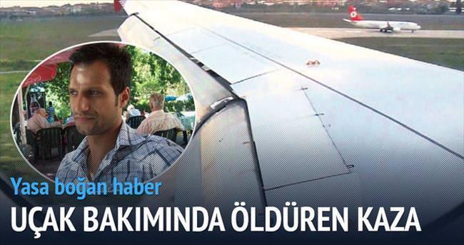 Uçak bakımında öldüren kaza