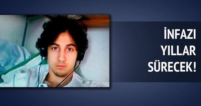 Boston bombacısının infazı yıllar sürecek