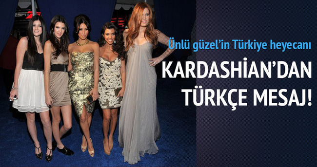Ünlü güzelin Türkiye heyecanı