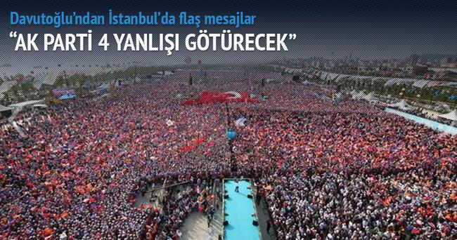 Davutoğlu: AK Parti 4 yanlışı götürecek
