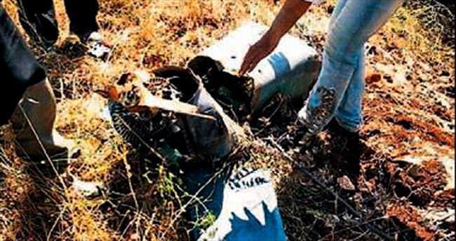 İşte F-16'ların vurduğu hava aracının enkazı