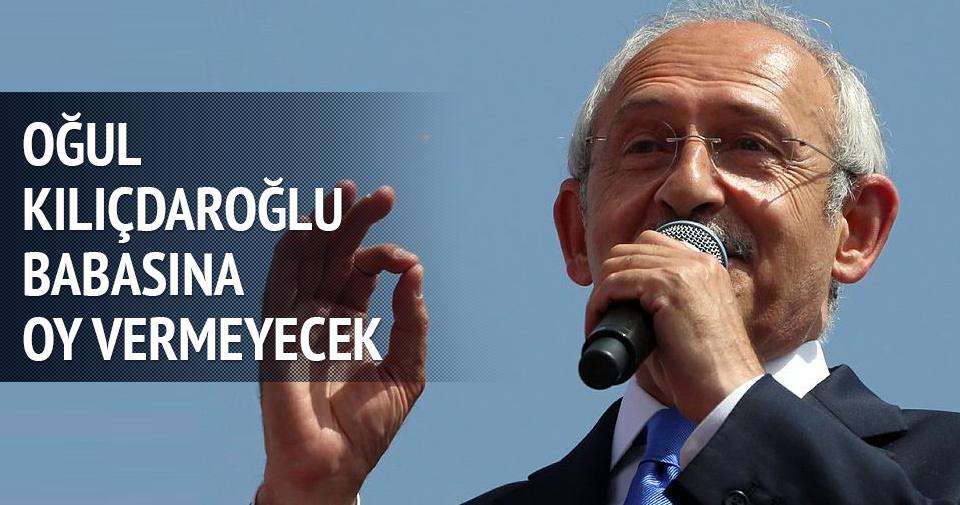 Kılıçdaroğlu'nun oğlu babasına oy vermeyecek