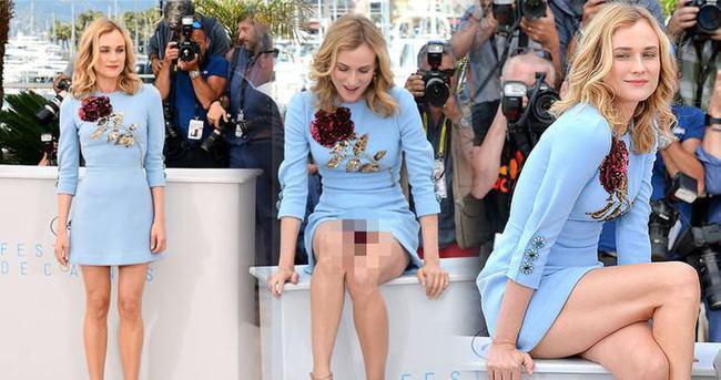 Diane Kruger'dan Cannes'da inanılmaz frikik!