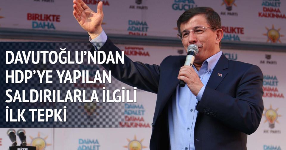 Davutoğlu: HDP'ye yapılan saldırı bütün partilere yapılmıştır