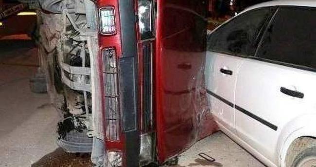 Bursa'da takla atan aracın sürücüsü hayatını kaybetti