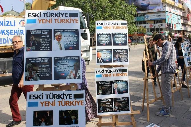 AK Partili Gençlerden 'Eski Türkiye-yeni Türkiye' Sergisi