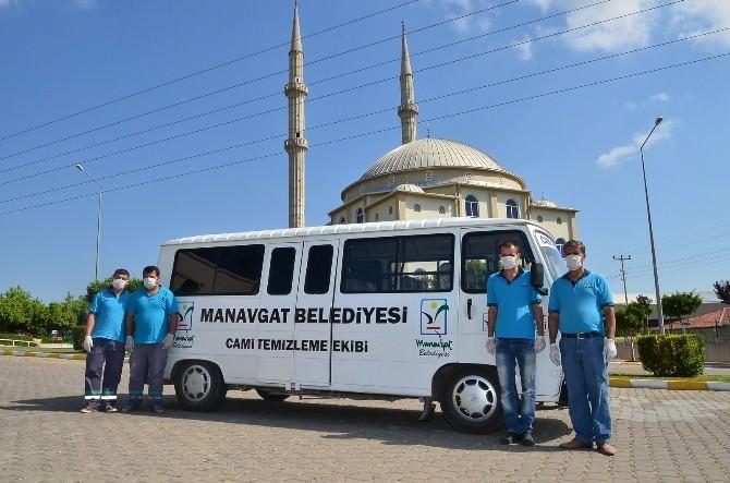 Manavgat Belediyesi Cami Temizleme Ekibi, Çalışmalarını Sürdürüyor