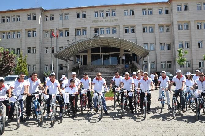 Şırnak'ta Bisiklet Şenliği Düzenledi