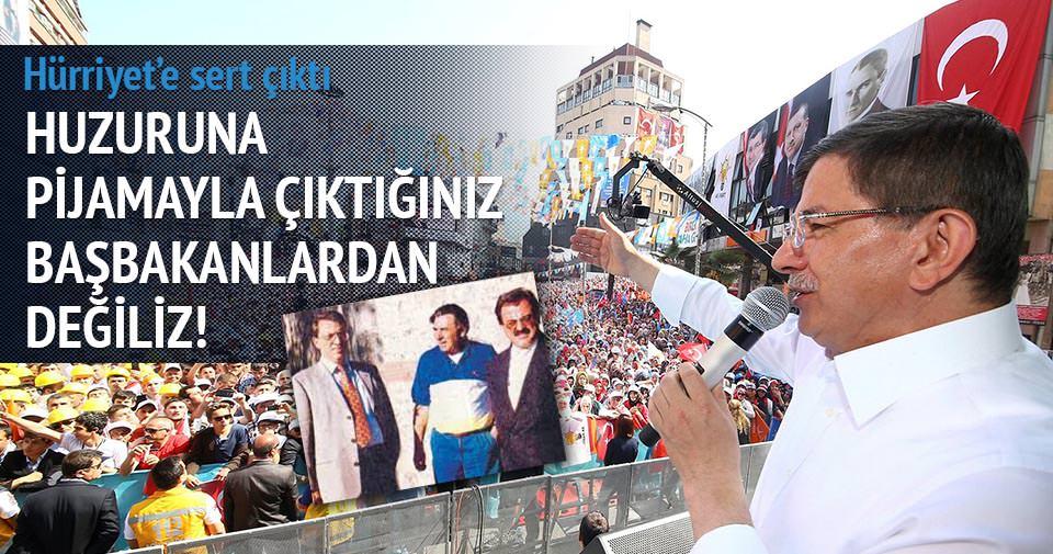 Davutoğlu'ndan Hürriyet'e ser 'pijama' tepkisi