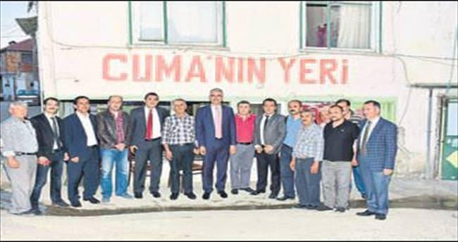 MHP'li adayların esnafla buluşması