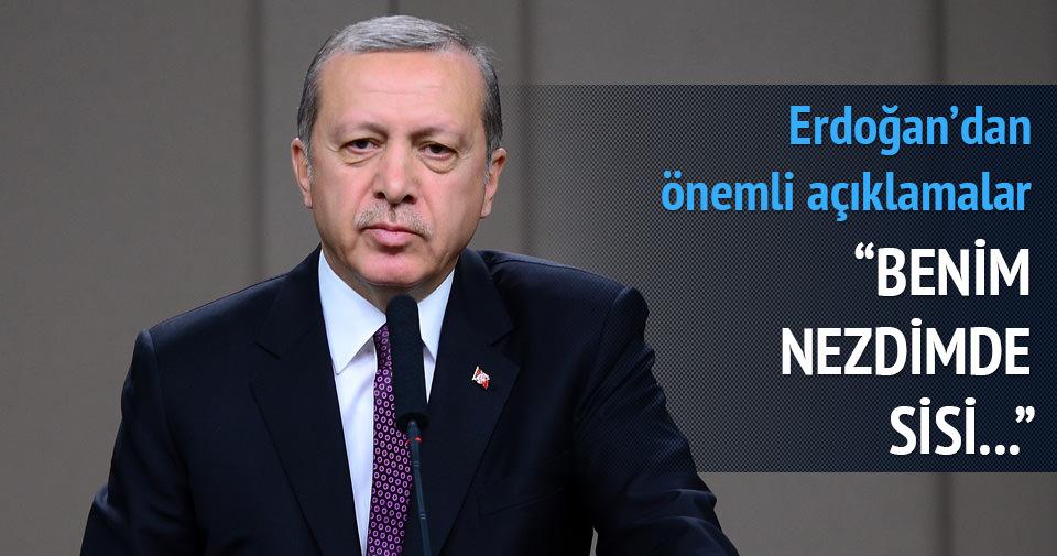 Erdoğan: Benim nezdimde Sisi Mısır'ın Cumhurbaşkanı değil