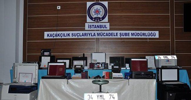 İstanbul'da sahte belge hazırlayan 16 kişi yakalandı