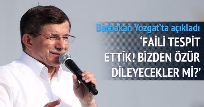 Başbakan Davutoğlu açıkladı: Faili tespit ettik