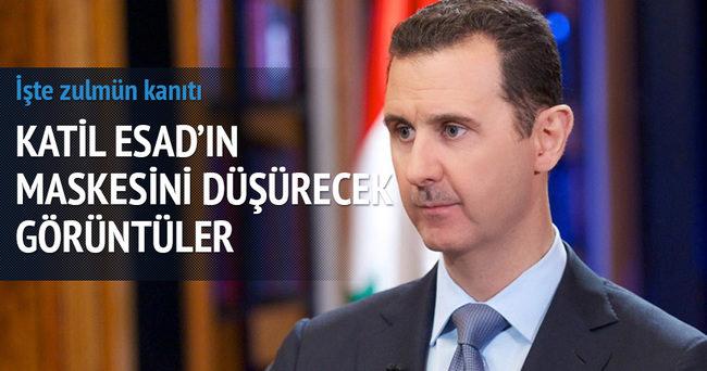 Katil Esad'ın attığı varil bombası görüntüleri yayınlandı