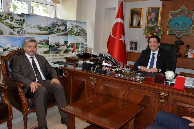Yeni Rektör Şahin'den Başkan Yazgı'ya Ziyaret