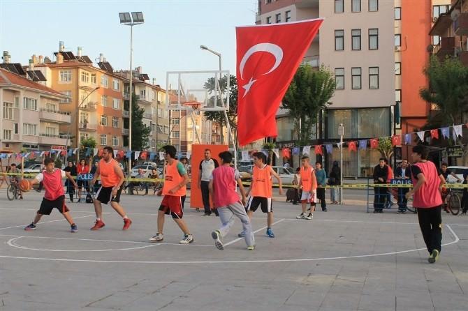 Karaman'da Sokak Basketbolu Heyecanı Başladı