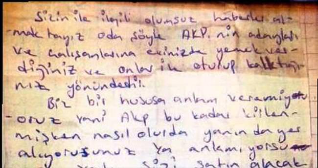 PKK'dan seçmene mektupla tehdit