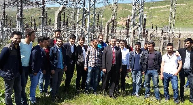 BEÜ'lü Öğrencile Tatvan Trafo Merkezini Gezdi