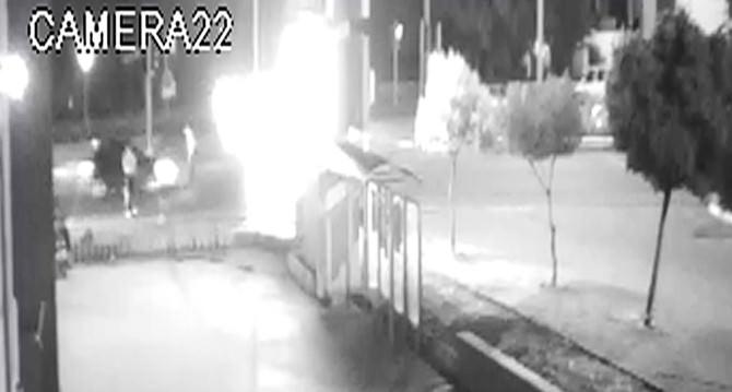 Polisi Şehit Eden Kaza Güvenlik Kamerasına Yansıdı