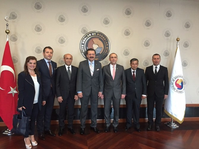 Ztso Yönetim Kurulu TOBB Başkanı Hisarcıklıoğlu'nu Ziyaret Etti