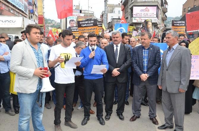 Zonguldak'ta Mursi Eylemi