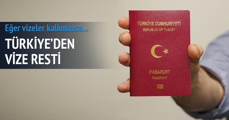 AB Bakanı'nından vize resti
