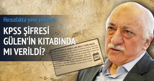 KPSS şifresi Gülen'in kitabında mı verildi?