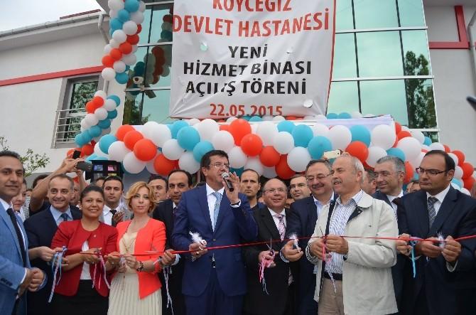 Bakan Zeybekci, Köyceğiz Devlet Hastanesi'ni Açtı