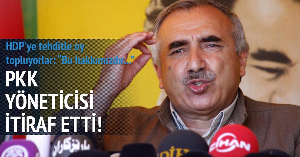 PKK yöneticisi seçim tehdidini itiraf etti