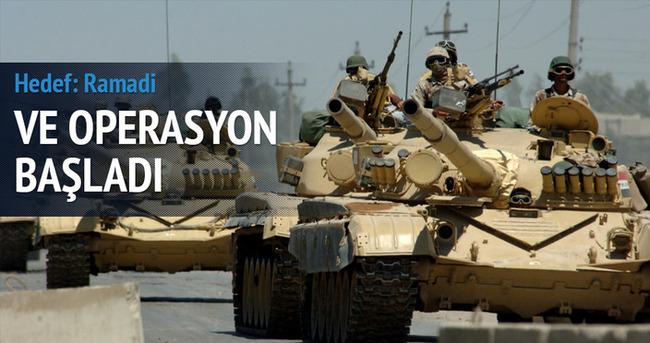 Irak ordusu ilk operasyonu başlattı