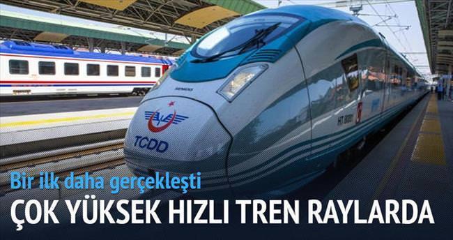 Çok yüksek hızlı tren Ankara ve Konya yollarında