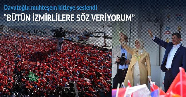 Davutoğlu: Bütün İzmirlilere söz veriyorum