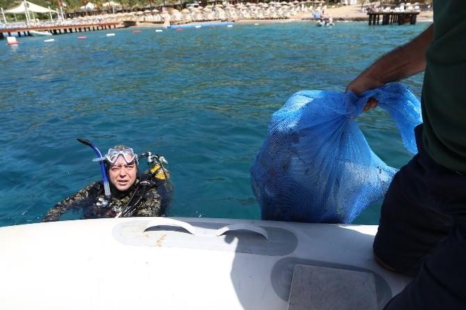 Bodrum'da Deniz Dibi Temiz Çıktı