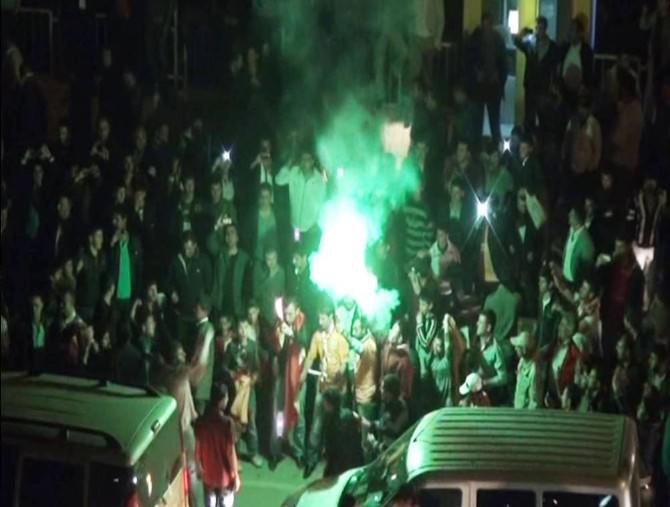 Bitlis'te Galatasaray'ın Galibiyet Sevinci
