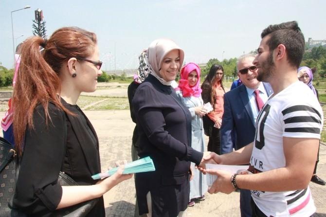 AK Parti Trabzon Milletvekili Adayı Ayşe Sula Köseoğlu, Seçim Çalışmalarını Ortahisar'da Sürdürdü