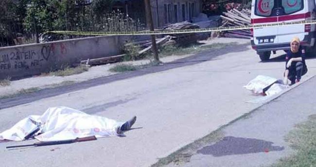 Sokak ortasında aile dehşeti: 2 ölü