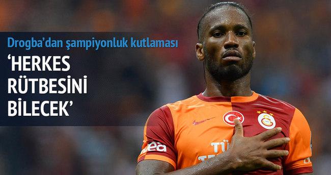 Drogba'dan şampiyonluk mesajı