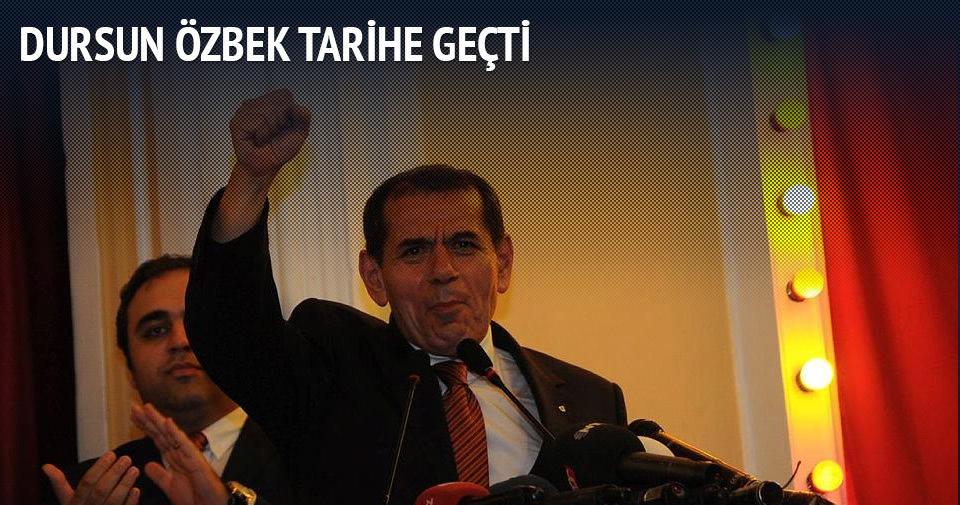 Dursun Özbek tarihe geçti