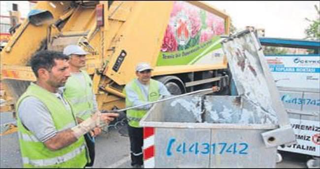 Döşemealtı'da çöp temizliği çalışması