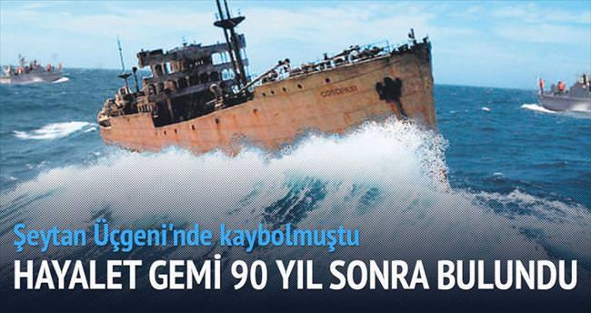 Şeytan Üçgeni'nde kaybolan gemi 90 yıl sonra bulundu