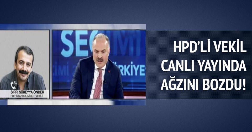 HDP'li vekil canlı yayında ağzını bozdu!