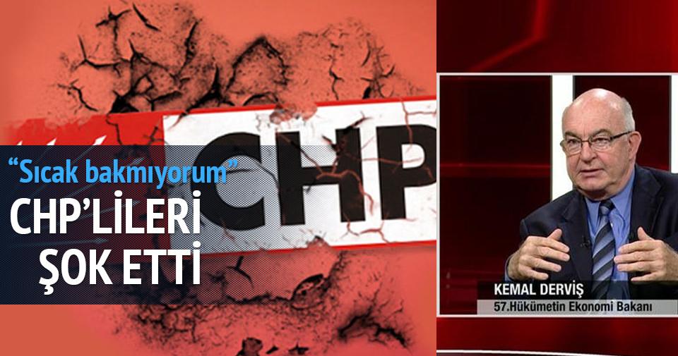 Kemal Derviş canlı yayında CHP'lileri şok etti