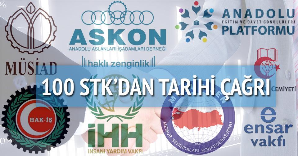 100 STK'dan tarihi seçim çağrı
