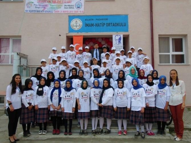 Pazaryeri İmam Hatip Ortaokulunda TÜBİTAK Bilim Fuarı Düzenlendi