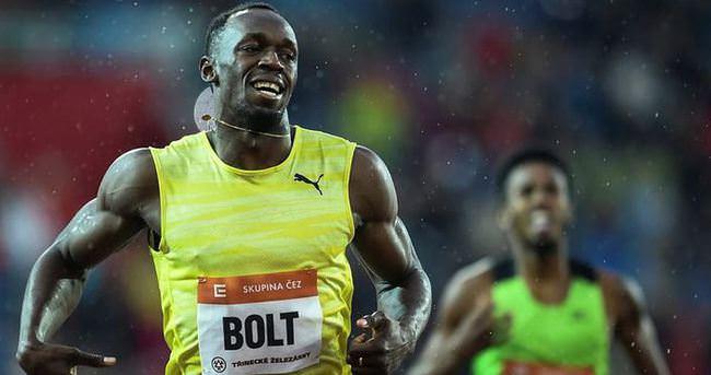 Bolt Avrupa'daki ilk yarışına altınla başladı