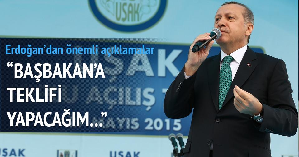 Erdoğan: Başbakan'a da teklifi yapacağım