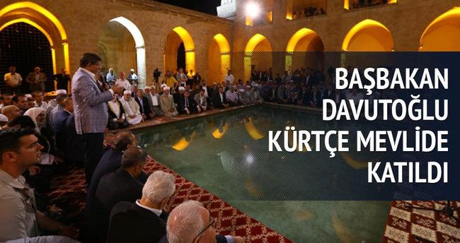 Davutoğlu Kürtçe Mevlid programına katıldı