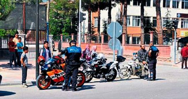 Motosikletlilere tolerans yok